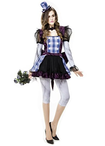[NonEcho Women's The Broken Doll Scary Halloween Costume for Adult] (Broken Doll Costume For Adults)