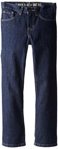 Dickies Big Boys' Slim Straight Icon 6-Pocket Jean, Rinsed Indigo, 20