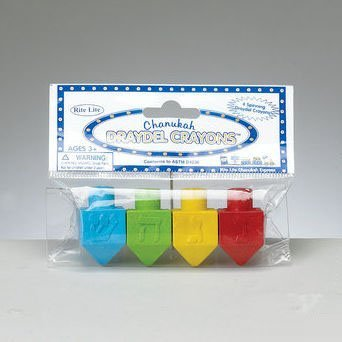 Dreidel Crayons, 4ct