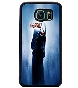 PrintDhaba Joker D-4845 Back Case Cover for SAMSUNG GALAXY S6 (Multi-Coloured)