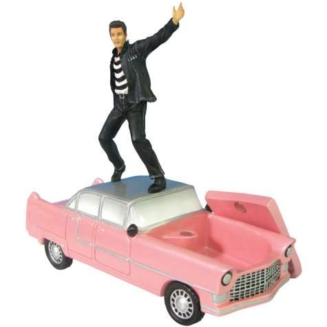 Elvis Presley Trinket Box - Elvis On Pink Car by Westland Giftware