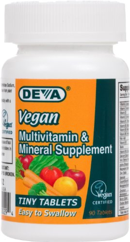 Deva Vegan Vitamins Vegan Tiny Tab Multivitamin & Mineral