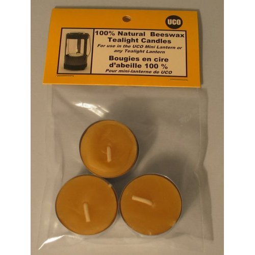 UCO 100% Natural Beeswax Tealight Candles Mini Lantern Lot Of 4