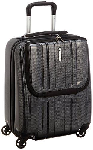 [ワールド トラベラー] World Traveler アマゾン限定 ACEコラボ特別企画 ペンタクォーク ストッパー付スーツケース46cm・2.9kg・32リットル・TSAロック搭載・機内持ち込みサイズ 05661 02 (ブラックカーボン)