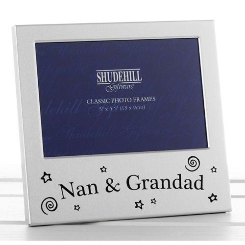Nan & Grandad Photo Frame Picture Gift Portrait Christmas Anniversary