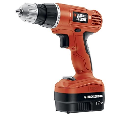 Black & Decker GCO1200C 12-Volt Cordless Drill with Over Molds, Orange and Black (12v Cordless Drill compare prices)