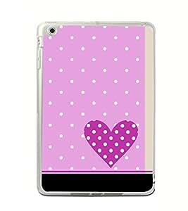 Purple Heart 2D Hard Polycarbonate Designer Back Case Cover for Apple iPad Mini 4 :: Apple iPad Mini 2 :: Apple iPad Mini 2 Wi-Fi + Cellular :: Apple iPad Mini 3 :: Apple iPad Mini 3 Wi-Fi + Cellular