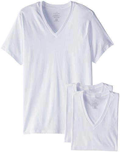 Calvin Klein Men's 3 Pack Cotton Classics Short Sleeve V-Neck T-Shirt