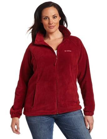 Columbia Women's Plus Size Benton Springs Full Zip Fleece Jacket, Beet, 2X