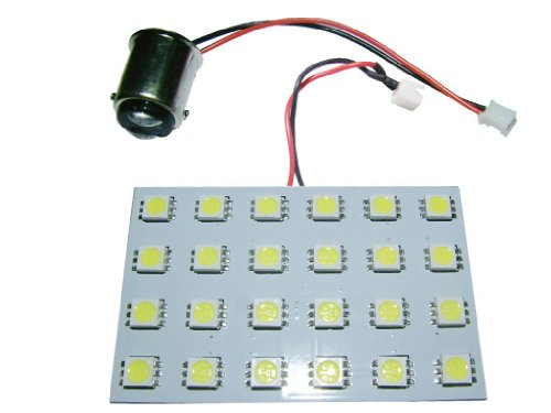 Grv 24-5050 Smd High Bright Car Interior Panel Dome Led Light Dc 12V Ba15D 1142 1076 1176 Adapter Cool White Pack Of 10