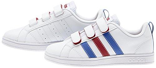 adidas VS Advantage CMF C, Scarpe indoor multisport bambini Multicolore Blanco / Azul / Rojo (Ftwbla / Azul / Rojpot) 28