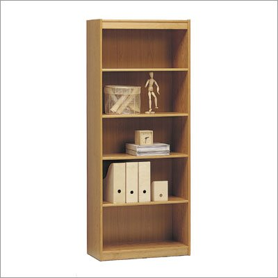 "Tvilum-Scanbirk 65034-16 Classic Soft 72"" H Five Shelf Wide Bookcase Finish: Maple"