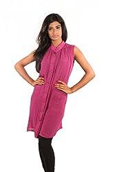 Showoff purple cotton women tops