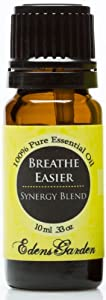 Breathe Easier Synergy Blend Essential Oil- 10 ml (Peppermint, Rosemary, Lemon & Eucalyptus)
