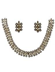 Anuradha Art Fancy Gold Necklace Set For Women