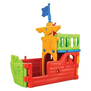 ECR4Kids Pirate Ship Climbing Structure