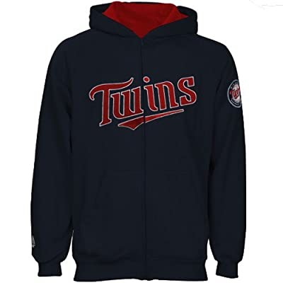 MLB Majesic Minnesota Twins Toddler Full Zip Hoodie Sweatshirt, Navy Blue