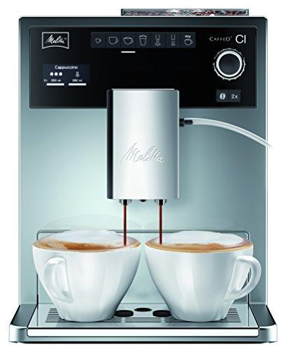 Melitta E 970-306 Kaffeevollautomat Caffeo CI One-touch Cappuccino (LCD-Display, 2 x 135 g Bean Select, 15 bar, Cappuccinatore) hochglanz silber thumbnail