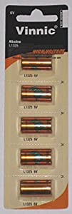 5 Vinnic L1325 6V Batteries in Vinnic Packaging (1 Blister Pack of 5)