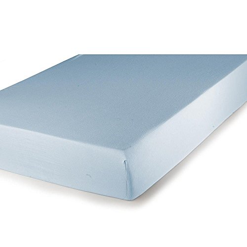 Carter's Jersey Fitted Crib Sheet, Baby Blue (Discontinued by Manufacturer) (Discontinued by Manufacturer)