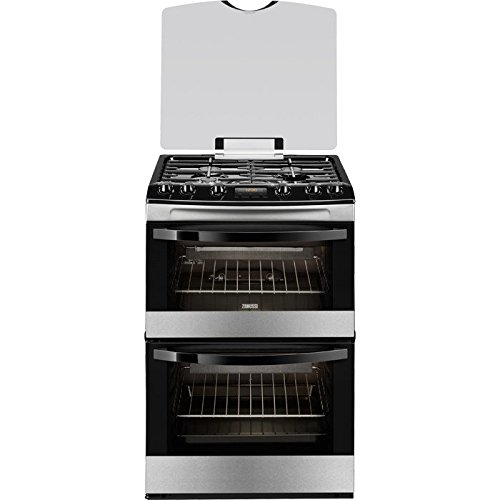 Zanussi ZCG63200XA Stainless Steel 60cm Double Oven Gas Cooker