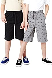 Limited 2 Pack Pure Cotton Skull Print Shorts