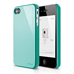 elago S4 Slim Fit 2 Case for iPhone 4/4S - Coral Blue + HD Professional Extreme Clear film