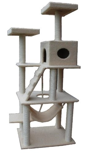 Cat Tower Tree with Condo House & Scratcher Post - 72 Inches