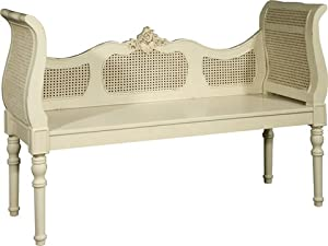 french rattan bedroom bench seat white width 128cm