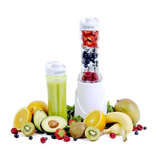 Duronic BL3 /W Blend & Go Blender individuel blanc - Mixeur protéines smoothies 300W avec 2 X bouteilles 600ml sans BPA + garantie gratuite de 2 ans