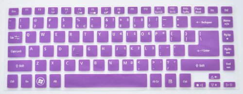 Folox Tm Backlit Keyboard Protector Cover For Acer Timeline 4830T 3830T Aspire 4755G V3-471G V5-471G V5-431 V5-431P M5-481G M3-481G R7-571G E1-472G (Purple)