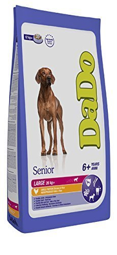 Crocchette per cani: DADO SENIOR LARGE BREED POLLO E RISO 12 KG