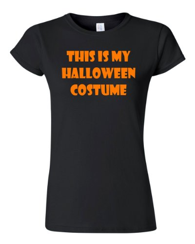 Junior This Is My Halloween Costume Funny Black T-Shirt Tee