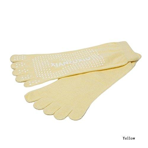 """Fifistore 1 Pair Women Yoga Socks Non-slip Massage Rubber Fitness Warm Socks Gym Dance Sport Exercise """"Barefoot Feel"""" Pink"""
