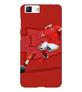EPICCASE Football maniac Mobile Back Case Cover For Vivo X5 (Designer Case)