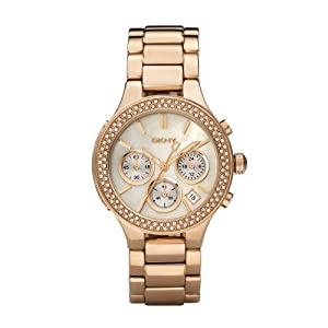 Amazon.com: DKNY Rose Gold Glitz Ladies Watch #NY8080: Dkny: Watches