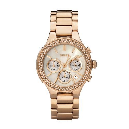 DKNY Rose Gold Glitz Ladies Watch #NY8080
