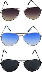 Shoaga Men's Aviator Sunglasses (Blue)