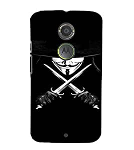 PrintVisa Vendetta Design 3D Hard Polycarbonate Designer Back Case Cover for Motorola Moto X2