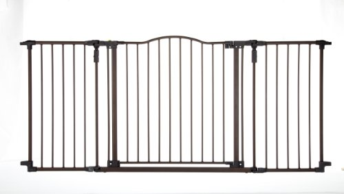 Deal North States Supergate Deluxe Décor Metal Gate, Brown Guides