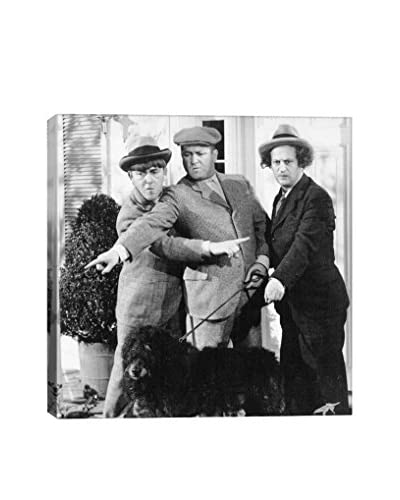 Retro Images The Three Stooges Which Way Did He Go Archive Gallery-Wrapped Canvas Print