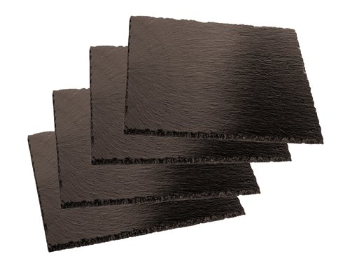 Aps 41585-10 Set 4 Pz Piatto Quadro Ardesia, 10x10 cm