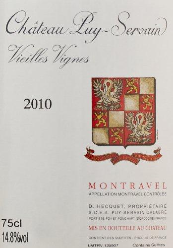 """2010 Château Puy-Servain Rouge """"Vieilles Vignes,"""" Montravel 750 Ml"""
