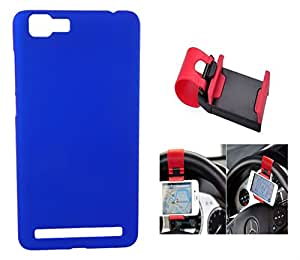 Toppings Hard Case Cover With Car Steering Wheel Socket For Vivo X5 Max - Blue