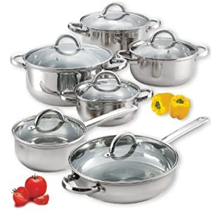 3 X Cook N Home 12-Piece Stainless Steel Set