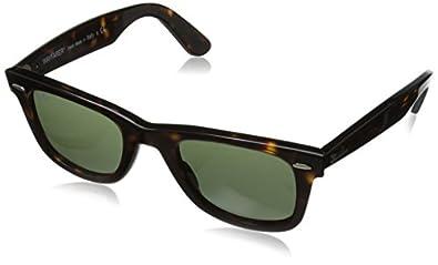 Ray-Ban Wayfarer Square Sunglasses, Tortoise & Crystal Green, 47 mm