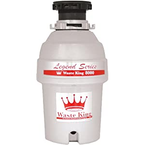 Waste King L-8000 Legend Series 1.0-Horsepower Continuous Feed Waste Disposer