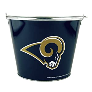 NFL St. Louis Rams Full Wrap Metal Bucket, 5-Quart