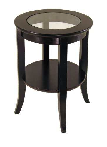 Winsome Wood Round End Table, Espresso