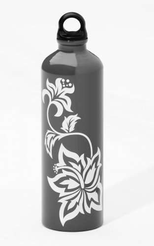The FIRM 750ml Aluminum Water Bottle (Hibiscus, Poly Loop Cap)